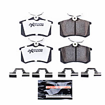Z26-340A Rear Z26 Muscle Carbon-Fiber Ceramic Brake Pads with Stainless-Steel Hardware Kit