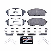 Power Stop® Z26-430 Front Z26 Muscle Carbon-Fiber Ceramic Brake Pads with Stainless-Steel Hardware Kit