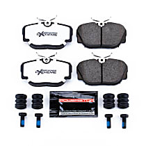Front OR Rear Z26 Muscle Carbon-Fiber Ceramic Brake Pads with Stainless-Steel Hardware Kit