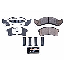 Power Stop® Z26-623 Front Z26 Muscle Carbon-Fiber Ceramic Brake Pads with Stainless-Steel Hardware Kit