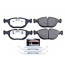 Z26-682 Front Z26 Muscle Carbon-Fiber Ceramic Brake Pads with Stainless-Steel Hardware Kit