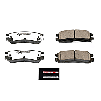 Z26-698 Rear Z26 Muscle Carbon-Fiber Ceramic Brake Pads with Stainless-Steel Hardware Kit