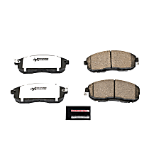 Power Stop® Z26-815 Front Z26 Muscle Carbon-Fiber Ceramic Brake Pads with Stainless-Steel Hardware Kit