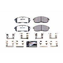 Power Stop® Z26-815A Front Z26 Muscle Carbon-Fiber Ceramic Brake Pads with Stainless-Steel Hardware Kit