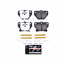 Power Stop® Z26-823 Rear Z26 Muscle Carbon-Fiber Ceramic Brake Pads with Stainless-Steel Hardware Kit