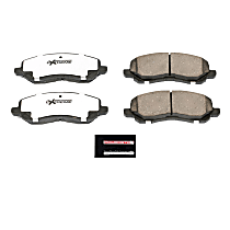 Power Stop® Z26-866 Front Z26 Muscle Carbon-Fiber Ceramic Brake Pads with Stainless-Steel Hardware Kit