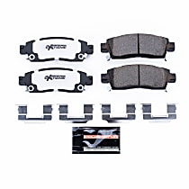 Z26-883 Rear Z26 Muscle Carbon-Fiber Ceramic Brake Pads with Stainless-Steel Hardware Kit
