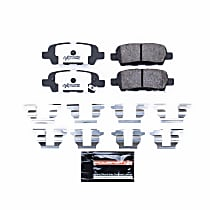 Power Stop® Z26-905 Rear Z26 Muscle Carbon-Fiber Ceramic Brake Pads with Stainless-Steel Hardware Kit