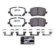 Power Stop® Z26-923 Front Z26 Muscle Carbon-Fiber Ceramic Brake Pads with Stainless-Steel Hardware Kit
