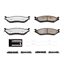 Power Stop® Z36-1066 Front OR Rear Z36 Truck Carbon-Fiber Ceramic Brake Pads with Stainless-Steel Hardware Kit