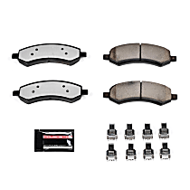 Power Stop® Z36-1084 Front Z36 Truck Carbon-Fiber Ceramic Brake Pads with Stainless-Steel Hardware Kit