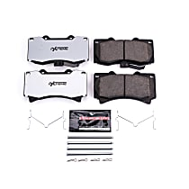 Power Stop® Z36-1119 Front Z36 Truck Carbon-Fiber Ceramic Brake Pads with Stainless-Steel Hardware Kit