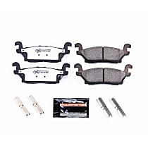 Power Stop® Z36-1120 Rear Z36 Truck Carbon-Fiber Ceramic Brake Pads with Stainless-Steel Hardware Kit