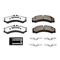 Power Stop® Z36-1136 Front OR Rear Z36 Truck Carbon-Fiber Ceramic Brake Pads with Stainless-Steel Hardware Kit