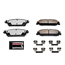Powerstop Rear Brake Pad Set - Z36 Extreme Truck And Tow Carbon-Fiber Ceramic Performance 2-Wheel Set, Carbon Fiber Ceramic
