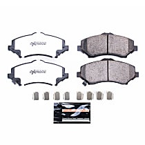 Z36-1273 Front Z36 Truck Carbon-Fiber Ceramic Brake Pads with Stainless-Steel Hardware Kit