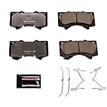 Z36-1303 Front Z36 Truck Carbon-Fiber Ceramic Brake Pads with Stainless-Steel Hardware Kit