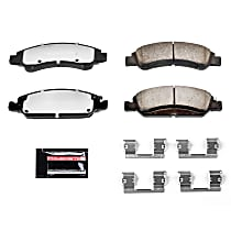Powerstop Front Brake Pad Set - Z36 Extreme Truck And Tow Carbon-Fiber Ceramic Performance 2-Wheel Set, Carbon Fiber Ceramic