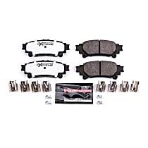 Rear Z36 Truck Carbon-Fiber Ceramic Brake Pads with Stainless-Steel Hardware Kit