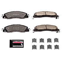 Power Stop® Z36-1399 Front Z36 Truck Carbon-Fiber Ceramic Brake Pads with Stainless-Steel Hardware Kit