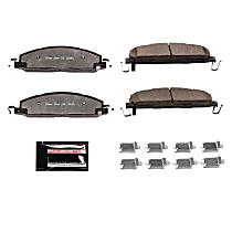 Power Stop® Z36-1400 Rear Z36 Truck Carbon-Fiber Ceramic Brake Pads with Stainless-Steel Hardware Kit