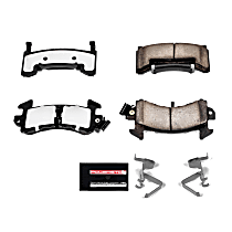 Power Stop® Z36-154 Front OR Rear Z36 Truck Carbon-Fiber Ceramic Brake Pads with Stainless-Steel Hardware Kit