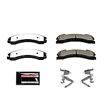 Z36-1565 Front OR Rear Z36 Truck Carbon-Fiber Ceramic Brake Pads with Stainless-Steel Hardware Kit