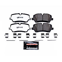 Rear Z36 Truck Carbon-Fiber Ceramic Brake Pads with Stainless-Steel Hardware Kit