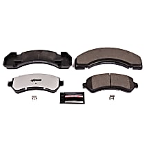 Power Stop® Z36-184 Front OR Rear Z36 Truck Carbon-Fiber Ceramic Brake Pads with Stainless-Steel Hardware Kit