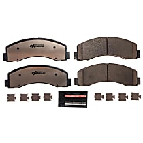 Z36-2087 Front Z36 Truck Carbon-Fiber Ceramic Brake Pads with Stainless-Steel Hardware Kit