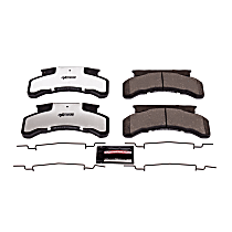 Power Stop® Z36-224 Front OR Rear Z36 Truck Carbon-Fiber Ceramic Brake Pads with Stainless-Steel Hardware Kit