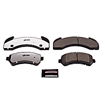 Power Stop® Z36-225 Front OR Rear Z36 Truck Carbon-Fiber Ceramic Brake Pads with Stainless-Steel Hardware Kit