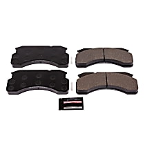 Z36-236 Front Z36 Truck Carbon-Fiber Ceramic Brake Pads with Stainless-Steel Hardware Kit