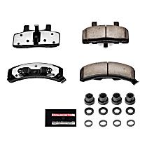 Z36-369 Front Z36 Truck Carbon-Fiber Ceramic Brake Pads with Stainless-Steel Hardware Kit