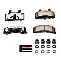 Z36-370 Front Z36 Truck Carbon-Fiber Ceramic Brake Pads with Stainless-Steel Hardware Kit
