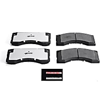 Z36-379 Front Z36 Truck Carbon-Fiber Ceramic Brake Pads with Stainless-Steel Hardware Kit