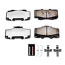 Power Stop® Z36-436 Front Z36 Truck Carbon-Fiber Ceramic Brake Pads with Stainless-Steel Hardware Kit
