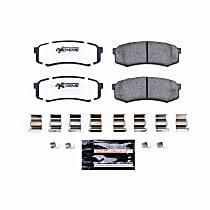Power Stop® Z36-606 Rear Z36 Truck Carbon-Fiber Ceramic Brake Pads with Stainless-Steel Hardware Kit