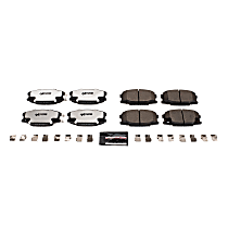 Z36-734 Front OR Rear Z36 Truck Carbon-Fiber Ceramic Brake Pads with Stainless-Steel Hardware Kit