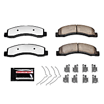 Z36-756 Front Z36 Truck Carbon-Fiber Ceramic Brake Pads with Stainless-Steel Hardware Kit