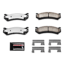 Z36-785 Front OR Rear Z36 Truck Carbon-Fiber Ceramic Brake Pads with Stainless-Steel Hardware Kit