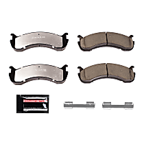 Power Stop® Z36-786 Front OR Rear Z36 Truck Carbon-Fiber Ceramic Brake Pads with Stainless-Steel Hardware Kit