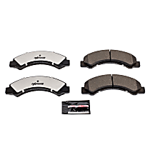 Power Stop® Z36-825 Front Z36 Truck Carbon-Fiber Ceramic Brake Pads with Stainless-Steel Hardware Kit
