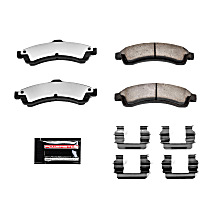 Power Stop® Z36-882 Front Z36 Truck Carbon-Fiber Ceramic Brake Pads with Stainless-Steel Hardware Kit