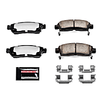 Z36-883 Rear Z36 Truck Carbon-Fiber Ceramic Brake Pads with Stainless-Steel Hardware Kit