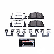 Power Stop® Z36-885 Rear Z36 Truck Carbon-Fiber Ceramic Brake Pads with Stainless-Steel Hardware Kit