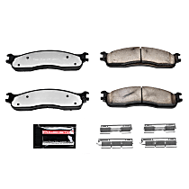 Power Stop® Z36-965 Front Z36 Truck Carbon-Fiber Ceramic Brake Pads with Stainless-Steel Hardware Kit