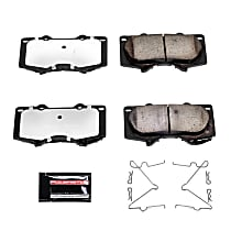 Z36-976 Front Z36 Truck Carbon-Fiber Ceramic Brake Pads with Stainless-Steel Hardware Kit