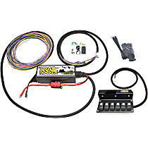 57003 Wiring Harness, Trail Rocker Overhead 6 Switch System For Jeep Wrangler JK 2009-16 w/Standard Mirror