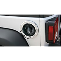 Fuel Door Cover - Chrome, ABS Plastic, Plain, Direct Fit, Sold individually